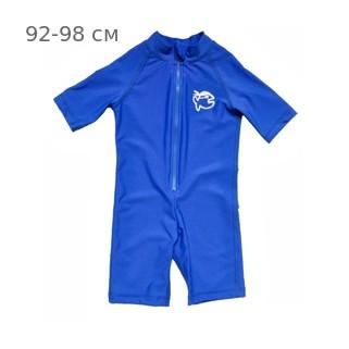 УФ-защитный детский гидрокостюм IQ-UV Shorty Jolly Fish, рост - 92-98 см, возраст - 2-3 года, синий