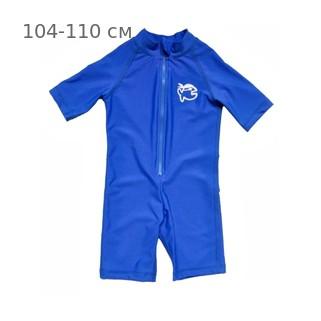 УФ-защитный детский гидрокостюм IQ-UV Shorty Jolly Fish, рост - 104-110 см, возраст - 4-5 лет, синий