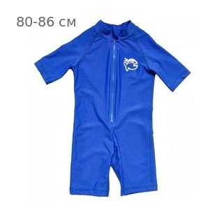 УФ-защитный детский гидрокостюм IQ-UV Shorty Jolly Fish, рост - 80-86 см, возраст - 1-1,5 года, синий