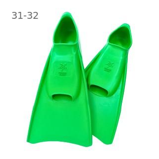 Ласты детские для бассейна Propercarry Elastic, размер - 31-32, цвет - зелёный, 100% натуральный каучук