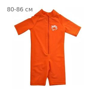 УФ-защитный детский гидрокостюм IQ-UV Shorty Jolly Fish, рост - 80-86 см, возраст - 1-1,5 года, оранжевый