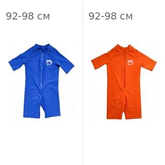 УФ-защитный детский гидрокостюм IQ-UV Shorty Jolly Fish, рост - 92-98 см, возраст - 2-3 года, синий + УФ-защитный детский гидрокостюм IQ-UV