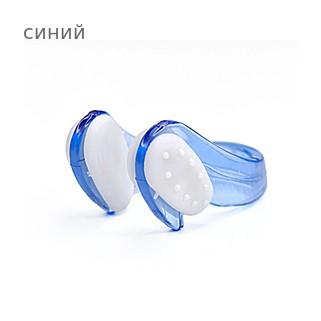 Клписа зажим для носа детский для плавания, цвет - синий