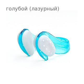Клписа зажим для носа детский для плавания, цвет - голубой (лазурный)