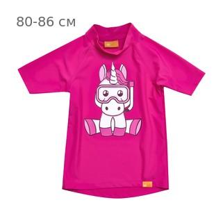 УФ-защитная детская футболка IQ-UV Unicorn Kids, рост - 80-86 см, возраст - 1-1,5 года, цвет - розовый