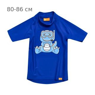 УФ-защитная детская футболка IQ-UV Dino Kids, рост - 80-86 см, возраст - 1-1,5 года, цвет - синий