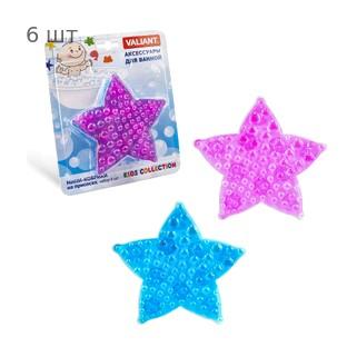 Набор мини ковриков для ванной VALIANT Морская звезда детский на присосках, количество - 6 шт, ПВХ