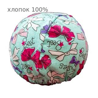 Шапочка для плавания грудничковая ЧудоТрусики БИРЮЗОВЫЙ БАНТ, материал - хлопок 100%, цвет - голубой (небесный)