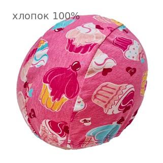 Шапочка для плавания грудничковая ЧудоТрусики КЕКС В РОЗОВОМ, материал - хлопок 100%, цвет - розовый