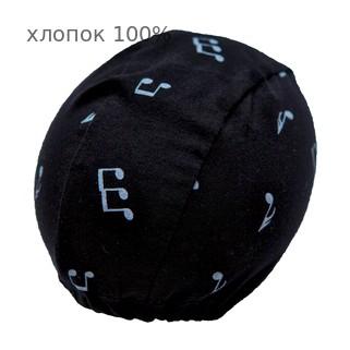 Шапочка для плавания грудничковая ЧудоТрусики НОТЫ, материал - хлопок 100%, цвет - чёрный