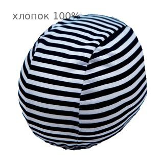 Шапочка для плавания грудничковая ЧудоТрусики ВЕЛИКОЛЕПНАЯ ЗЕБРА, материал - хлопок 100%, цвет - белый, чёрный