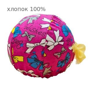 Шапочка для плавания грудничковая ЧудоТрусики С ЖЕЛТЫМ ФАТИНОВЫМ БАНТОМ РОЗОВЫЙ БАНТ, материал - хлопок 100%, цвет - розовый