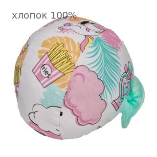 Шапочка для плавания грудничковая ЧудоТрусики ЕДИНОРОГИ В ОБЛАКАХ С ФАТИНОВЫМ БАНТОМ, материал - хлопок 100%, цвет - белый, розовый