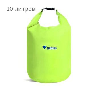 Герметичная сумка-мешок Bluefield водонепроницаемая, объём - 10 литров, цвет - салатовый (зеленый)