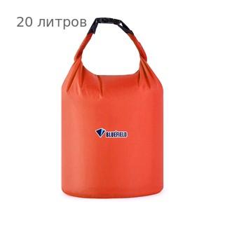Герметичная сумка-мешок Bluefield водонепроницаемая, объём - 20 литров, цвет - красный