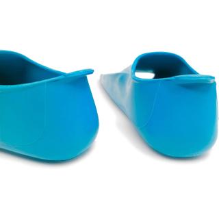 Ласты детские Propercarry укороченные тренировочные, размер - 29-30, цвет - голубой (аква), 100% натуральный каучук, рис. 3 - Swimi - интернет магазин
