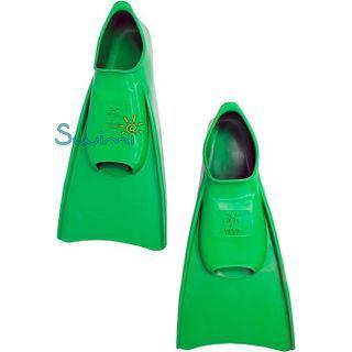 Ласты детские для бассейна Propercarry Elastic, размер - 31-32, цвет - зелёный, 100% натуральный каучук, рис. 6 - Swimi - интернет магазин