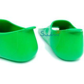 Ласты детские для бассейна Propercarry Elastic, размер - 31-32, цвет - зелёный, 100% натуральный каучук, рис. 5 - Swimi - интернет магазин