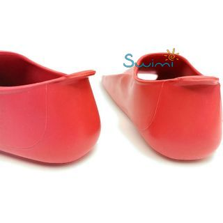 Ласты детские для бассейна Propercarry Elastic, размер - 31-32, цвет - красный, 100% натуральный каучук, рис. 5 - Swimi - интернет магазин