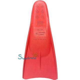 Ласты детские для бассейна Propercarry Elastic, размер - 31-32, цвет - красный, 100% натуральный каучук, рис. 2 - Swimi - интернет магазин