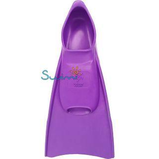 Ласты детские Propercarry укороченные тренировочные, размер - 29-30, цвет - фиолетовый, 100% натуральный каучук, рис. 3 - Swimi - интернет магазин