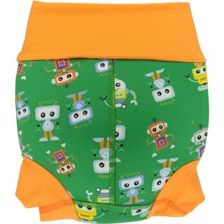 Низ гидрокостюма детский неопреновый Propercarry с нейлоновым покрытием, 1-1,5 года, размер - L, 74-80 см, вес ребенка - от 10 до 12 кг, принт - Роботы на зеленом - артикул: SN1903-002L, рис. 2 - Swimi - интернет магазин