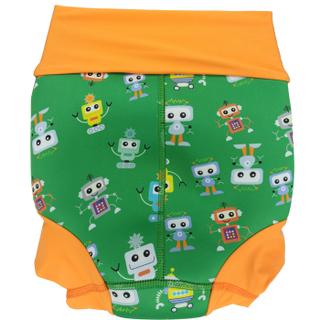 Низ гидрокостюма детский неопреновый Propercarry с нейлоновым покрытием, 2-3 года, размер - SL, 98 см, вес ребенка - от 14 до 16 кг, принт - Роботы на зеленом - артикул: SN1903-002SL, рис. 2 - Swimi - интернет магазин