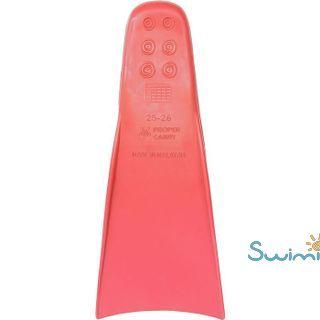 Ласты детские для бассейна Propercarry Super Elastic, размер - 25-26, цвет - красный, 100% натуральный каучук, рис. 3 - Swimi - интернет магазин