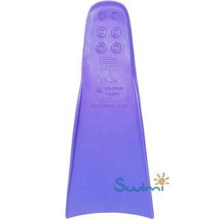 Ласты детские для бассейна Propercarry Elastic, размер - 27-28, цвет - фиолетовый, 100% натуральный каучук, рис. 3 - Swimi - интернет магазин