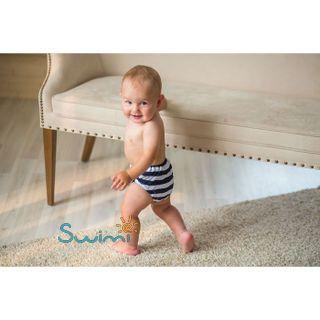 Многоразовые трусики-подгузники ЧудоТрусики МОРСКИЕ, размер - S, возраст - с рождения до 4 месяцев, хлопок 100%, цвет - белый, синий, рис. 2 - Swimi - интернет магазин