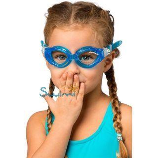 Детские очки для плавания Cressi KING CRAB, возраст - 7-15 лет, цвет - белый, цвет стёкол - прозрачный, Италия, рис. 4 - Swimi - интернет магазин