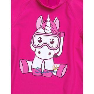 УФ-защитная детская футболка IQ-UV Unicorn Kids, рост - 80-86 см, возраст - 1-1,5 года, цвет - розовый, рис. 2 - Swimi - интернет магазин