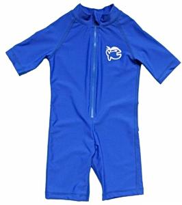 УФ-защитный детский гидрокостюм IQ-UV Shorty Jolly Fish, рост - 80-86 см, возраст - 1-1,5 года, синий, рис. 1 - Swimi - интернет магазин