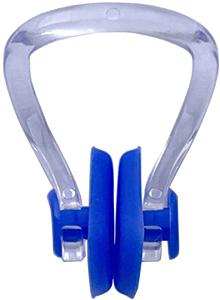 Клписа зажим для носа взрослый для плавания, цвет - синий, рис. 1 - Swimi - интернет магазин