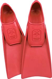 Ласты детские для бассейна Propercarry Super Elastic, размер - 25-26, цвет - красный, 100% натуральный каучук, рис. 1 - Swimi - интернет магазин