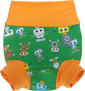 Низ гидрокостюма детский неопреновый Propercarry с нейлоновым покрытием, 1-1,5 года, размер - L, 74-80 см, вес ребенка - от 10 до 12 кг, принт - Роботы на зеленом - артикул: SN1903-002L, рис. 1 - Swimi - интернет магазин