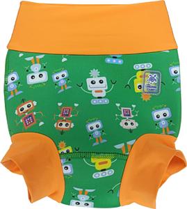Низ гидрокостюма детский неопреновый Propercarry с нейлоновым покрытием, 1,5 - 2 года, размер - XL, 86-92 см, вес ребенка - от 12 до 14 кг, принт - Роботы на зеленом - артикул: SN1903-002XL, рис. 1 - Swimi - интернет магазин