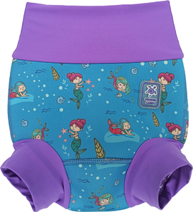 Низ гидрокостюма детский неопреновый Propercarry с нейлоновым покрытием, с 6 месяцев до 1 года, размер - M, 68-74 см, вес ребенка - от 8 до 10 кг, принт - Русалки на голубом - артикул: SN1903-001M, рис. 1 - Swimi - интернет магазин