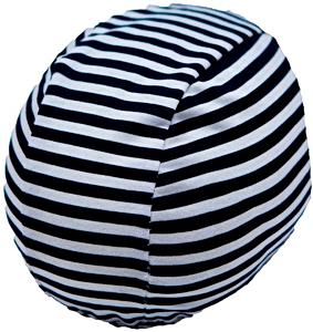 Шапочка для плавания грудничковая ЧудоТрусики ВЕЛИКОЛЕПНАЯ ЗЕБРА, материал - хлопок 100%, цвет - белый, чёрный, рис. 1 - Swimi - интернет магазин