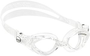 Детские очки для плавания Cressi KING CRAB, возраст - 7-15 лет, цвет - белый, цвет стёкол - прозрачный, Италия, рис. 1 - Swimi - интернет магазин