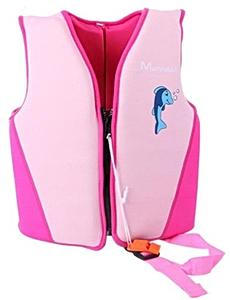 Детский жилет спасательный Manner для плавания, 1-2 года, цвет - розовый, неопрен, рис. 1 - Swimi - интернет магазин
