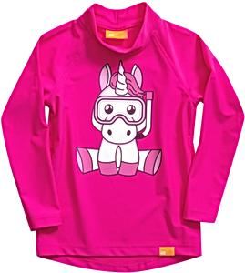 УФ-защитная детская футболка c рукавом IQ-UV Unicorn Kids, рост - 92-98 см, возраст - 2-3 года, цвет - розовый, рис. 1 - Swimi - интернет магазин