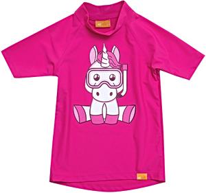 УФ-защитная детская футболка IQ-UV Unicorn Kids, рост - 80-86 см, возраст - 1-1,5 года, цвет - розовый, рис. 1 - Swimi - интернет магазин